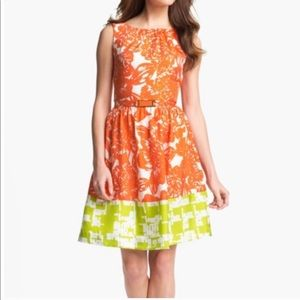 🍃Trina Turk Orange Nautilus Dress
